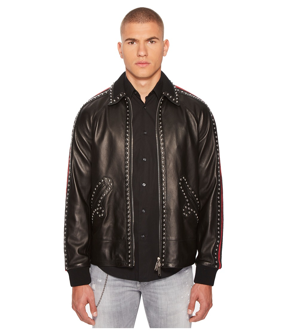 DSQUARED2 - 50s Leather Jacket (Black) Mens Coat