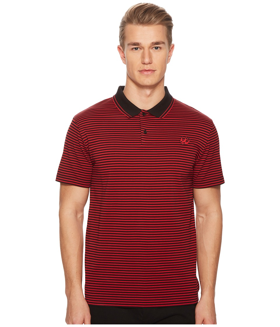 McQ - Clean Polo 01 (Black/Red) Mens Clothing