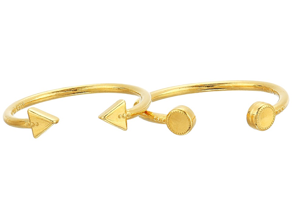 Alex and Ani - Triangle and Circle Ring Set of 2 (14KT Gold Plated) Ring