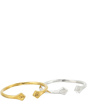 Alex and Ani - Diamond Flare Ring Set of 2