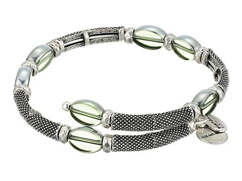 Alex and Ani Warrior Wrap Bracelet - Forest/Rafaelian Silver