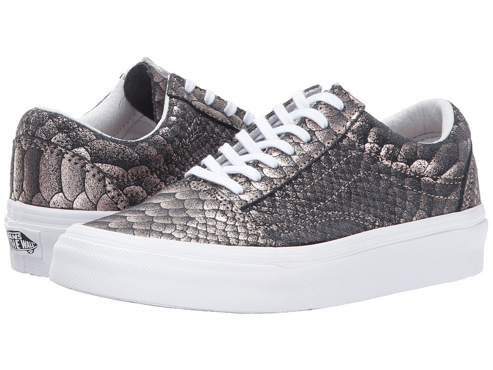 Vans UA Old Skool (Rose Gold/True White Metallic Snake) Shoes