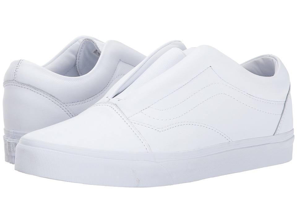 Vans UA Old Skool Laceless DX (True White Leather) Shoes