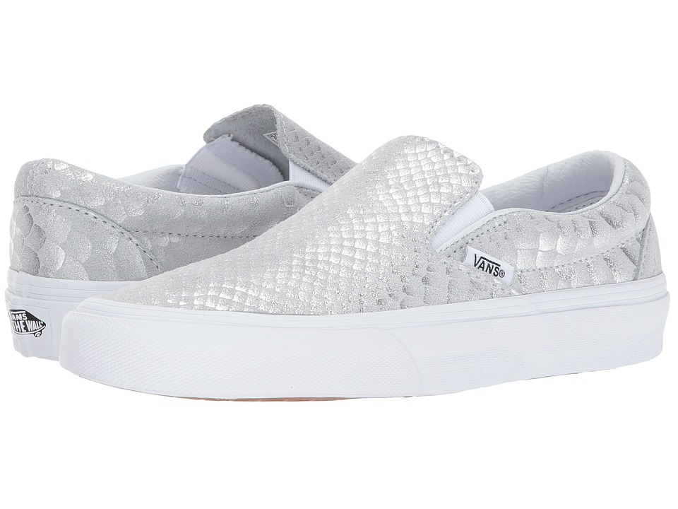 Vans UA Classic Slip-On (Silver/True White Metallic Snake) Shoes