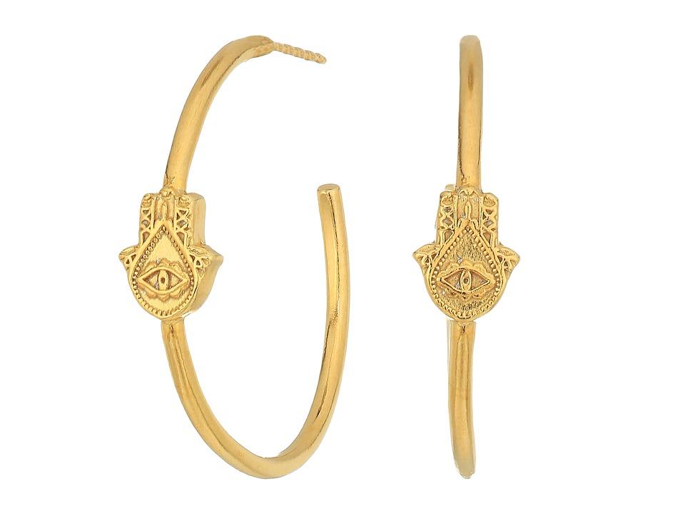 Alex and Ani - Hand of Fatima Hoop Earrings