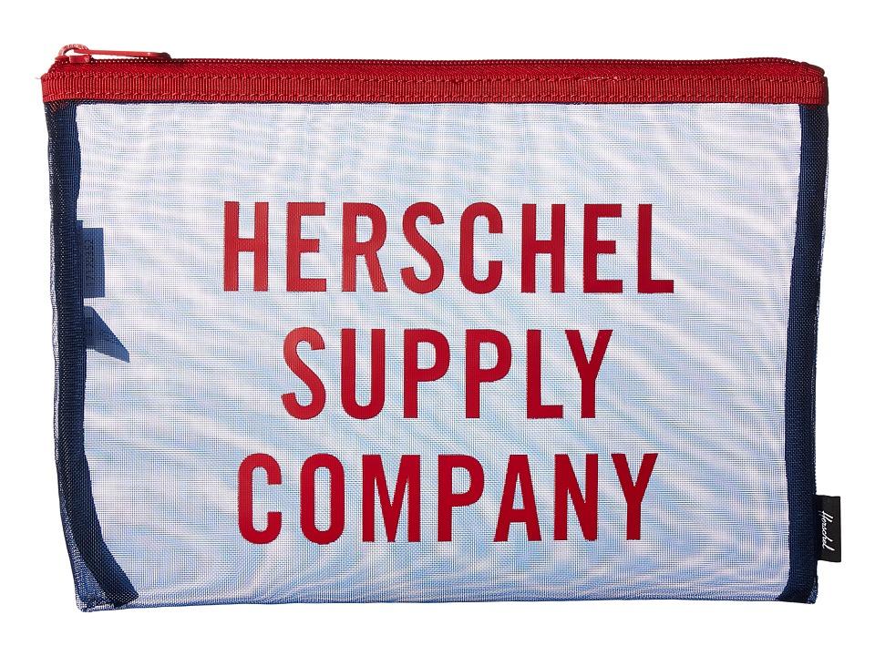 Herschel Supply Co. - Network Large - Mesh (Navy/Red 1) Wallet