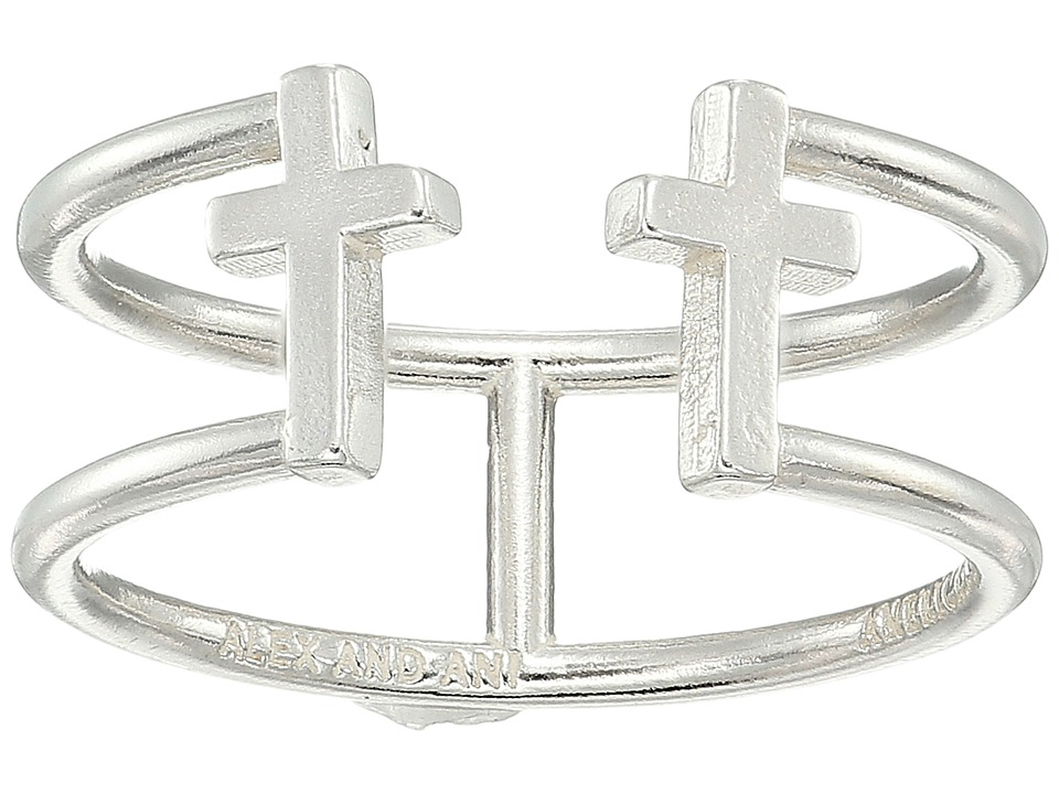 Alex and Ani - Cross Ring (Sterling Silver) Ring