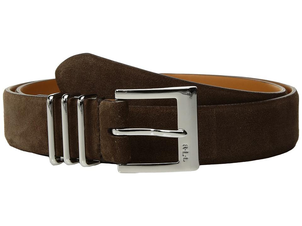 LAUREN Ralph Lauren Classics Triple Keeper Belt (Dark Brown) Women