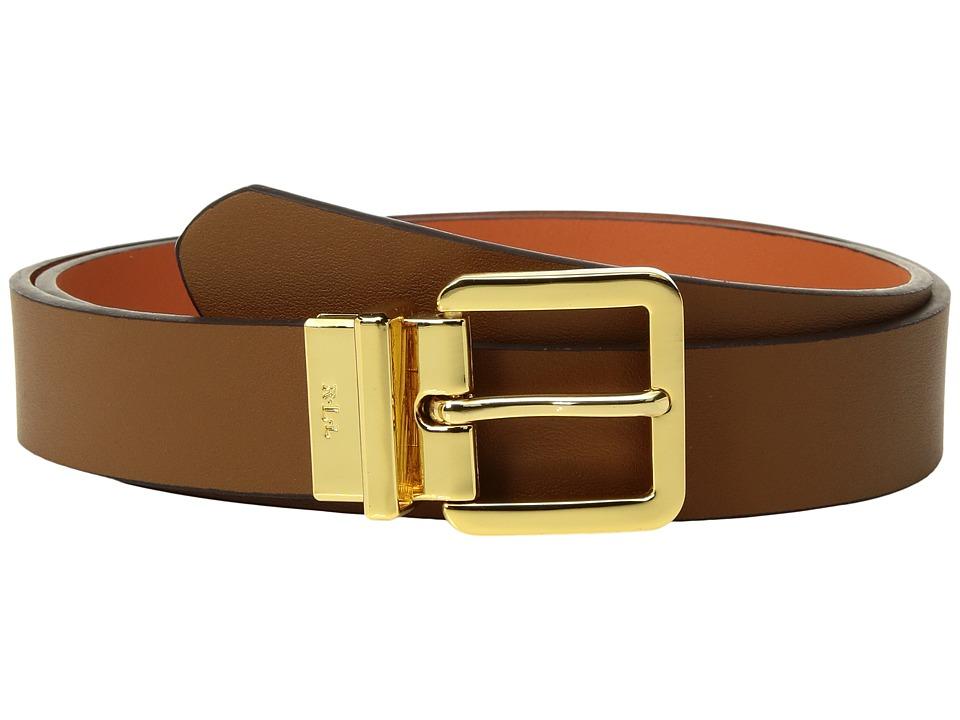 LAUREN Ralph Lauren Dryden Reversible Casual Belt (Brown) Women