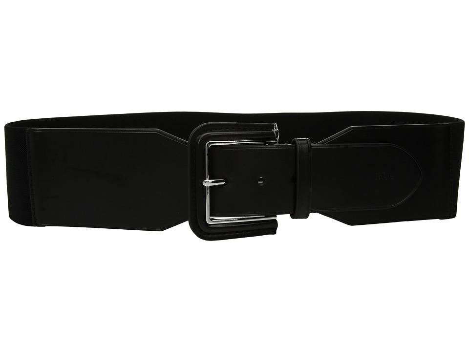 LAUREN Ralph Lauren Stretch Metal Buckle Belt (Black) Women