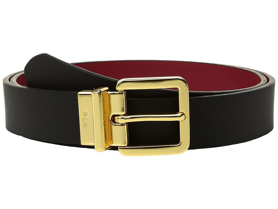 LAUREN Ralph Lauren Dryden Reversible Casual Belt (Black) Women