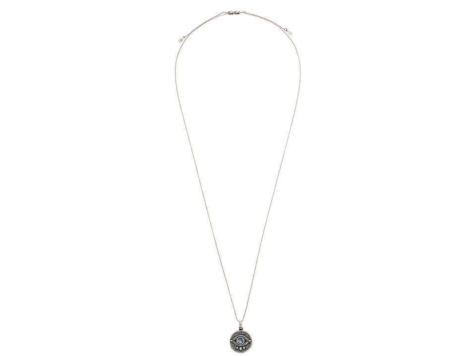 Alex and Ani - Evil Eye Expandable Necklace (Rafaelian Silver) Necklace