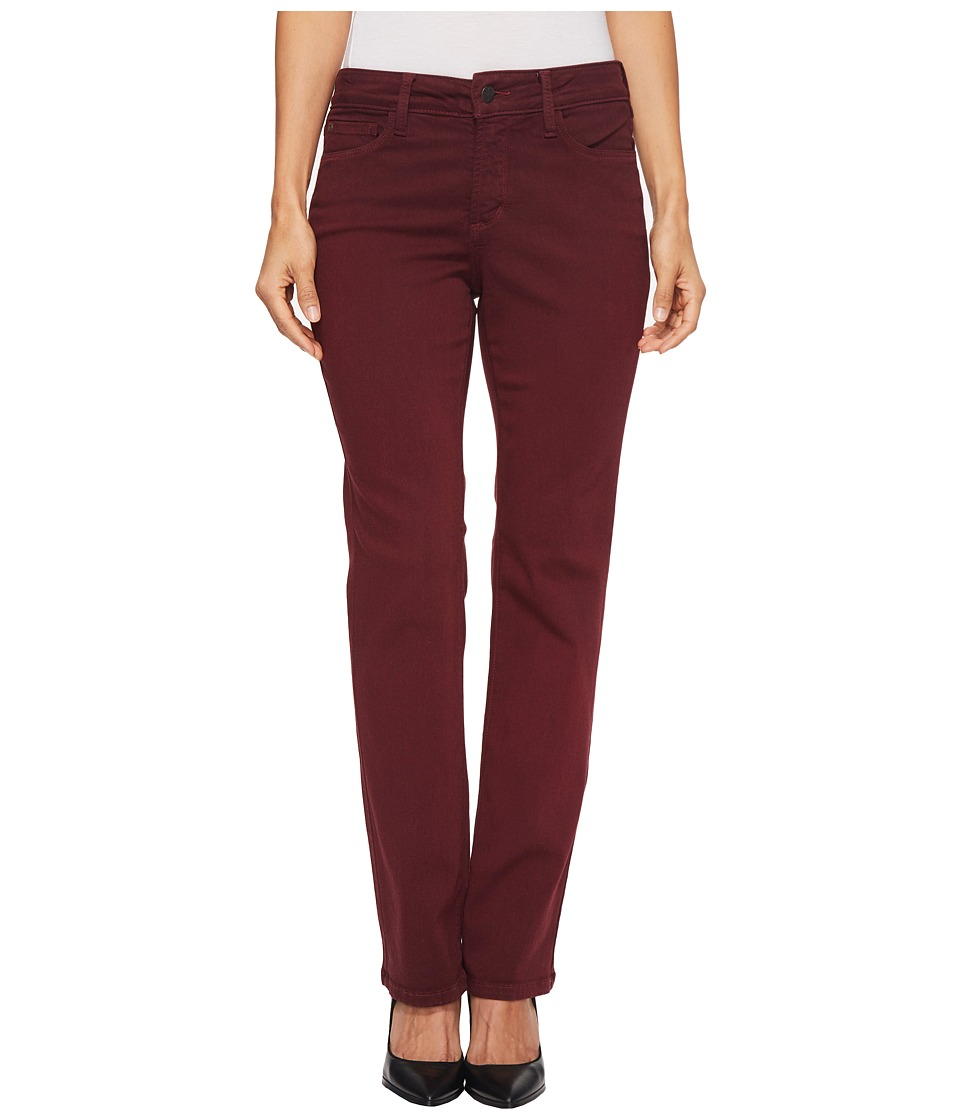 NYDJ Petite Petite Marilyn Straight Jeans in Deep Currant (Deep Currant) Women