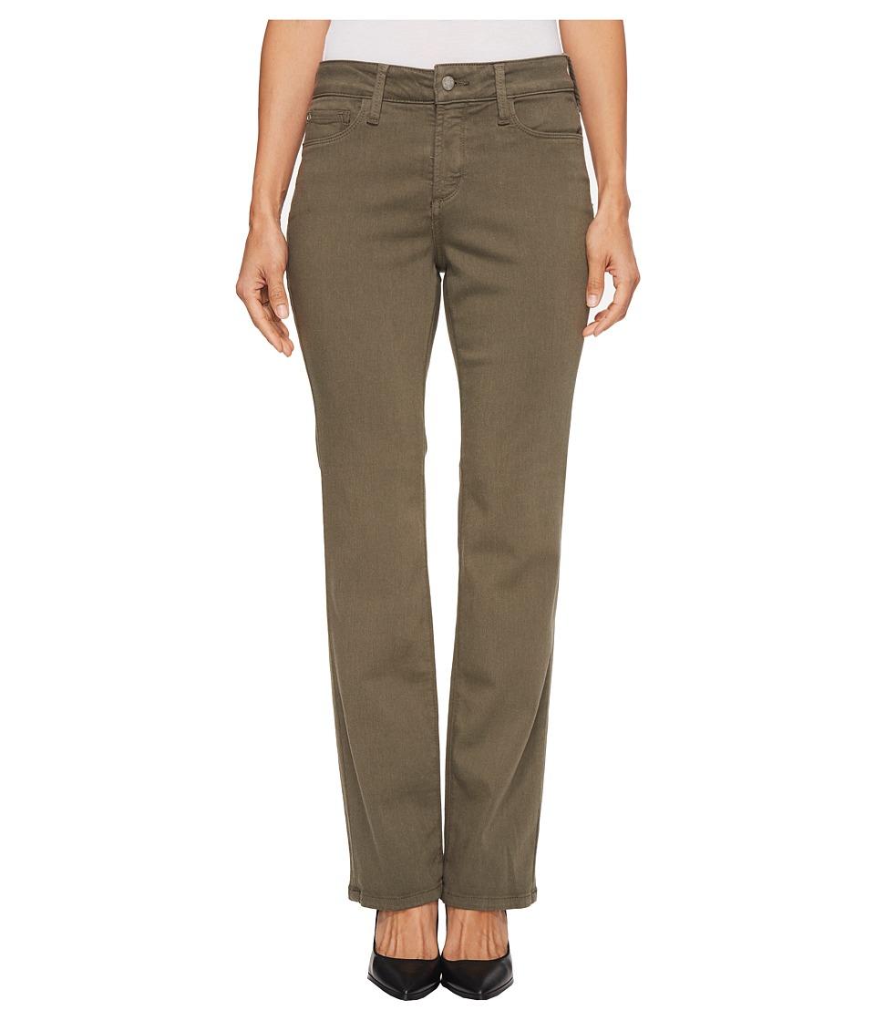 NYDJ Petite Petite Marilyn Straight Jeans in Luxury Touch Denim in Fatigue (Fatigue) Women