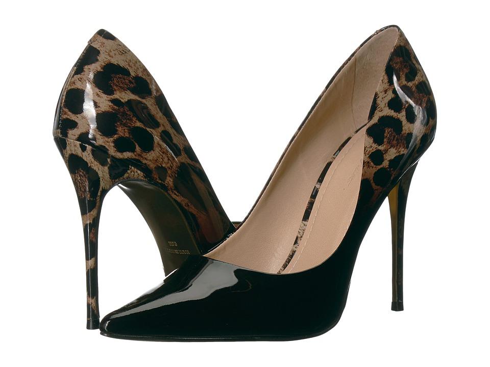 Massimo Matteo Leopard Pump (Black Leopard) High Heels