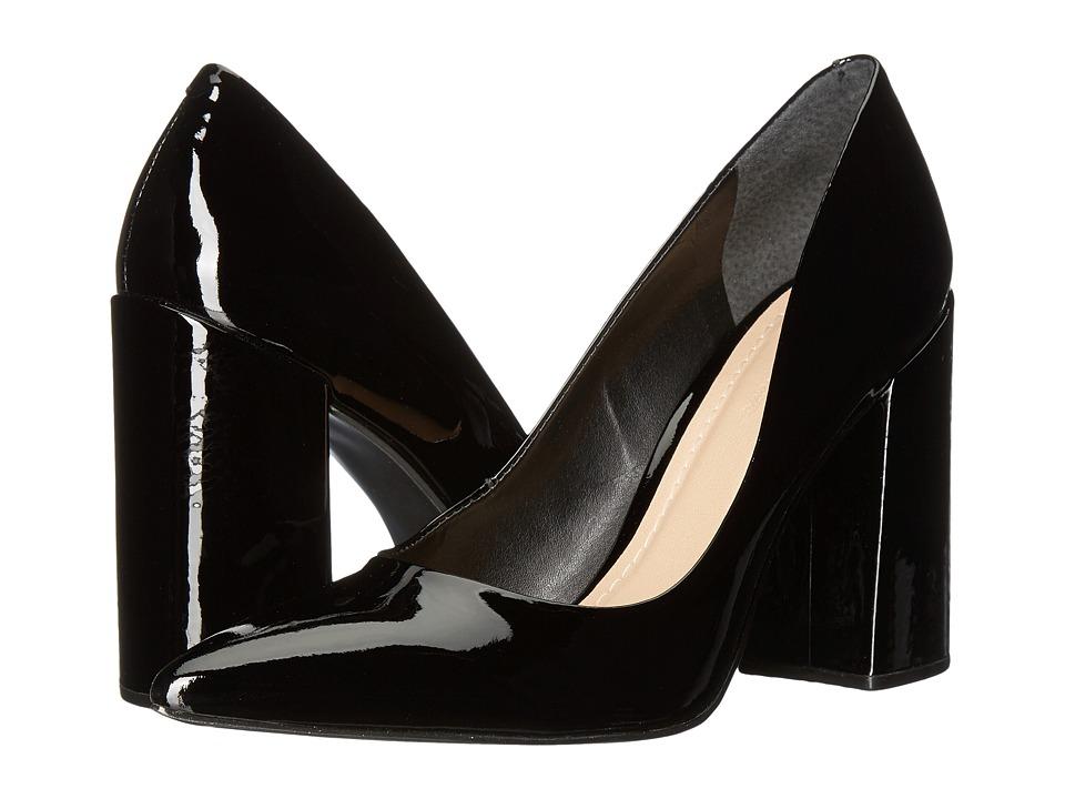 Massimo Matteo Block Heel Pump (Black Patent) High Heels