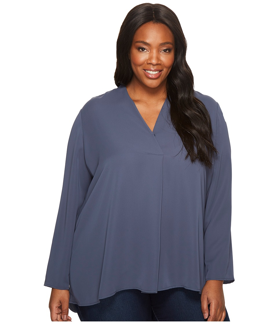 NIC+ZOE Plus Size Majestic Matte Shirt (Slate) Women