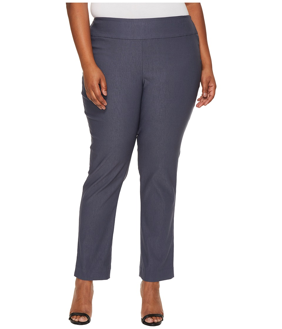 NIC+ZOE Plus Size Wonderstretch Pants (Slate) Women