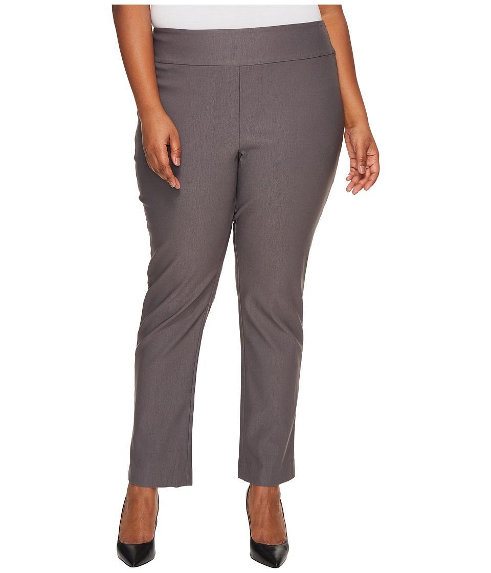 NIC+ZOE Plus Size Wonderstretch Pants (Warm Grey) Women
