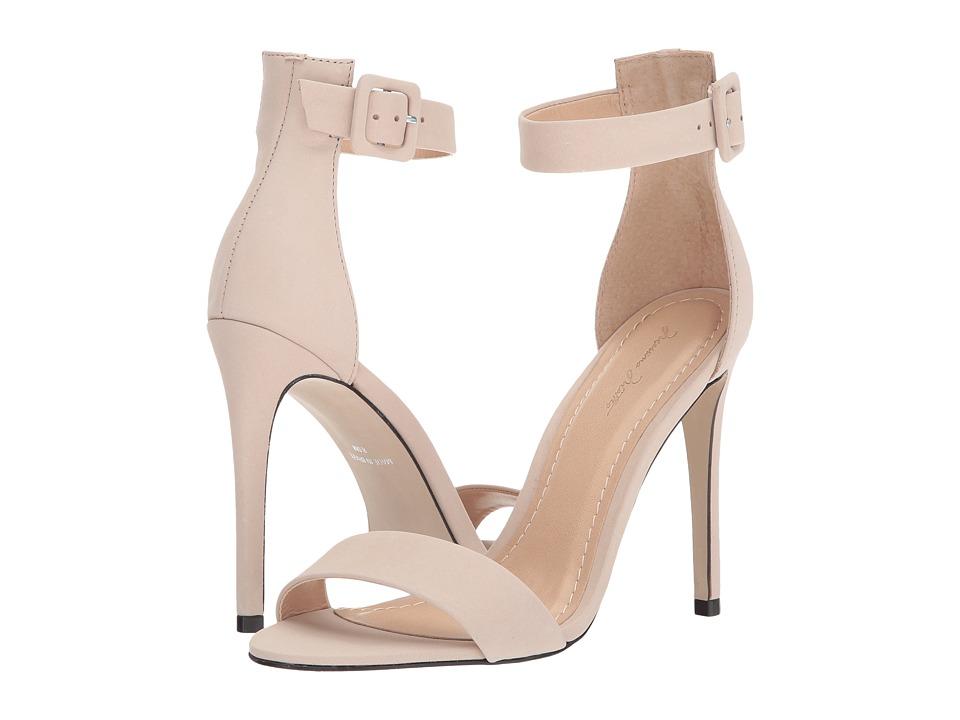Massimo Matteo Open Toe Strap Pump (Linen Nubuck) High Heels