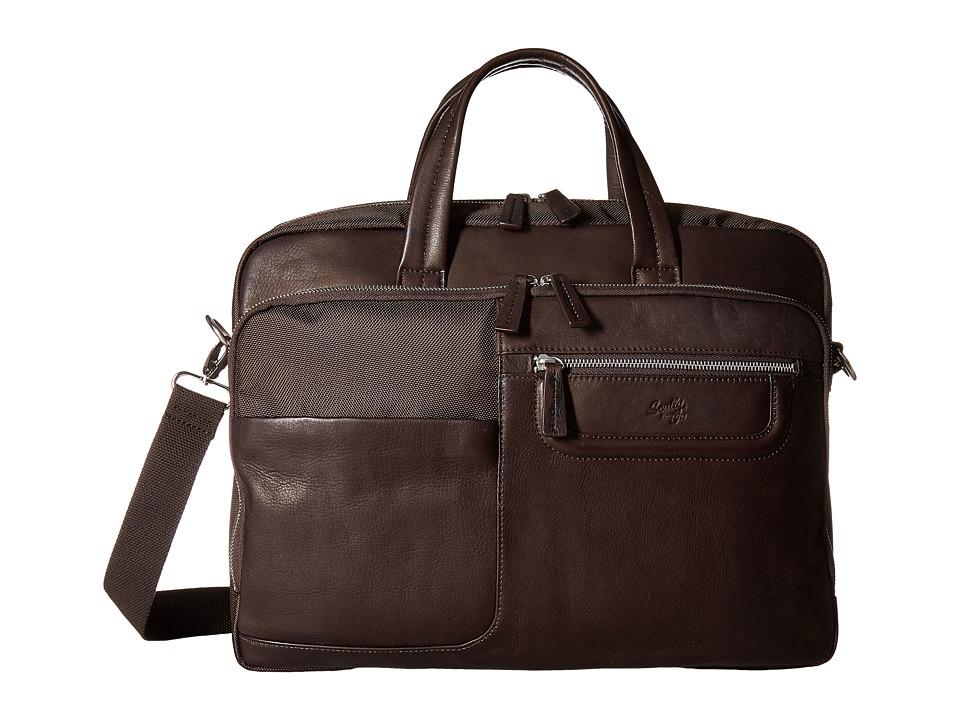 Scully Oakridge Laptop Bag (Brown) Computer Bags