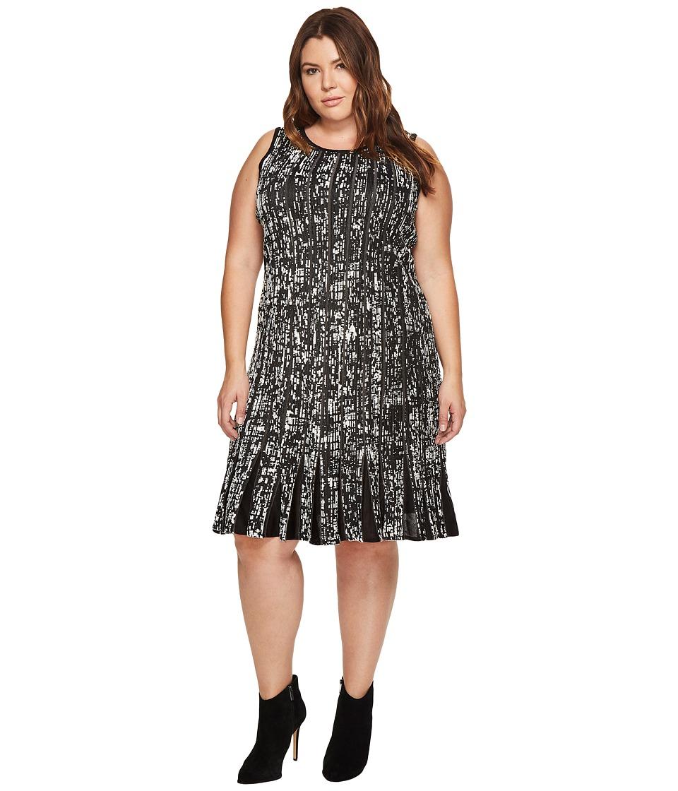 NIC+ZOE Plus Size Boulevard Twirl Dress (Multi) Women