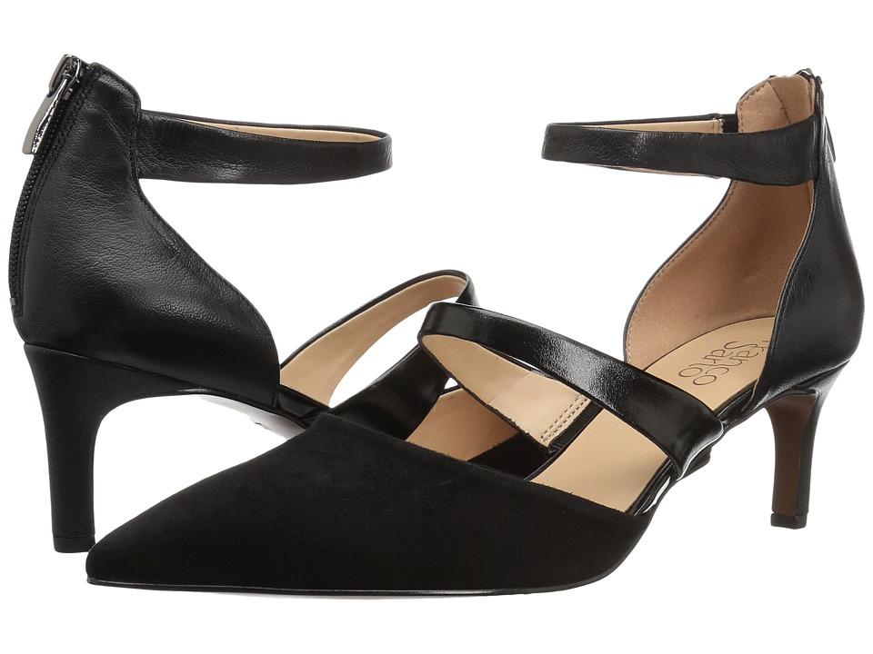 Franco Sarto Davey (Black Suede/Leather) Women's Shoes