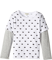 Kenzo Kids - Eyes Long Sleeves Tee Shirt (Toddler/Little Kids)