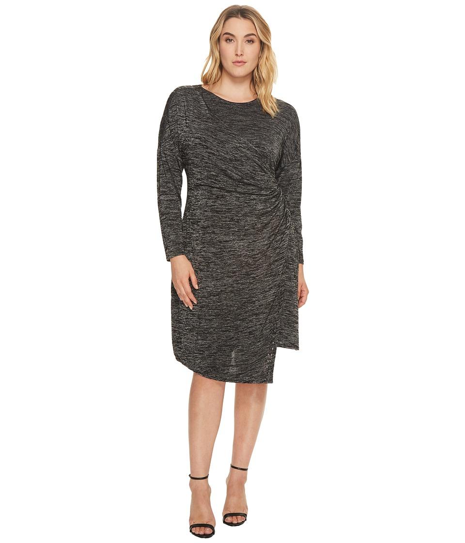 NIC+ZOE Plus Size Every Occasion Stud Dress (Grey Mix) Women