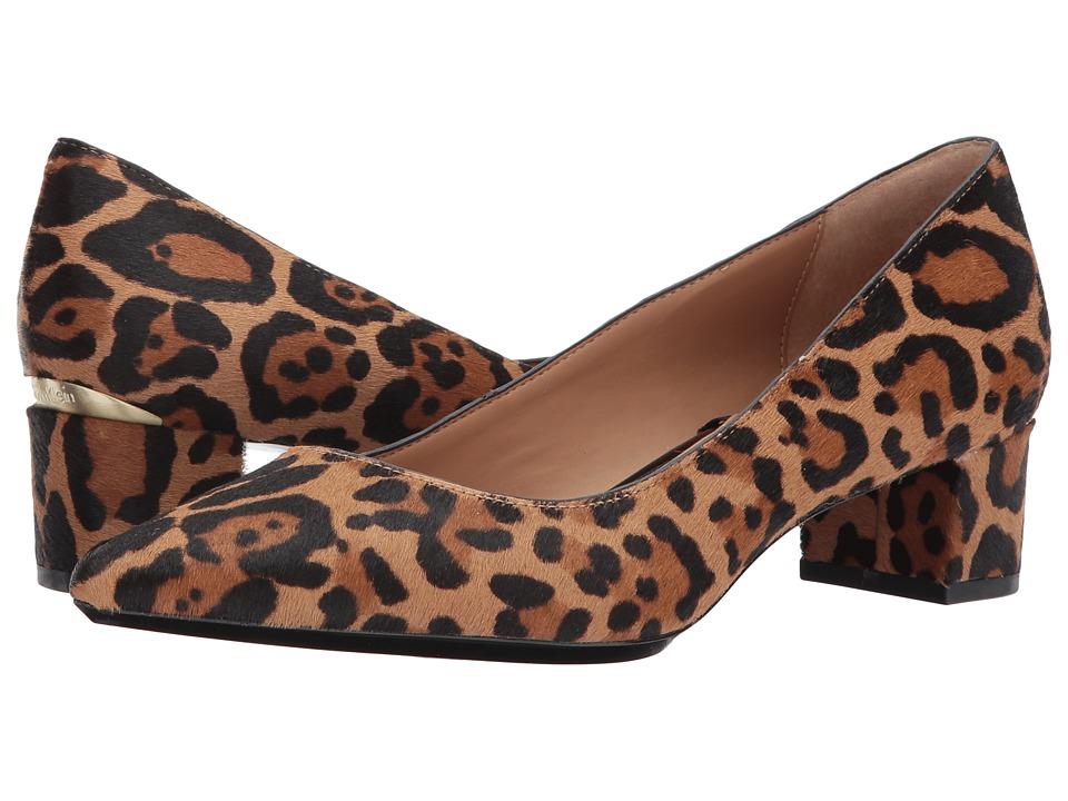Calvin Klein Genoveva (Natural Winter Leopard Haircalf) Women