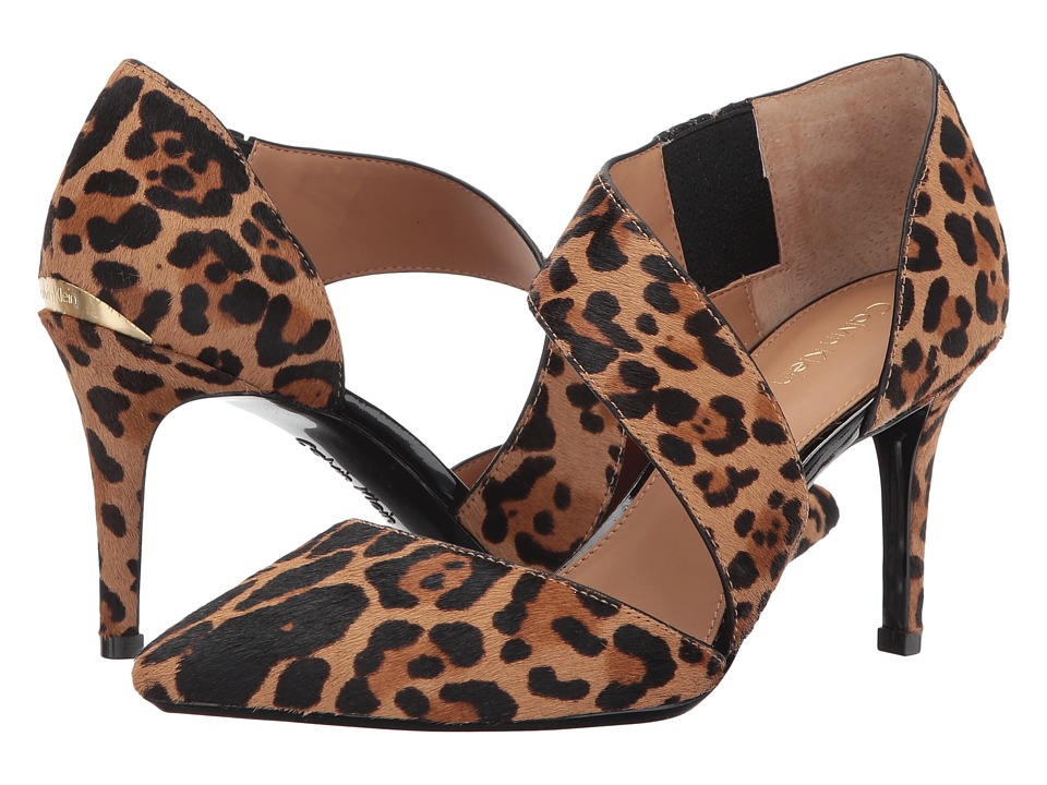 Calvin Klein Gella Pump (Natural Winter Leapord Haircalf) High Heels