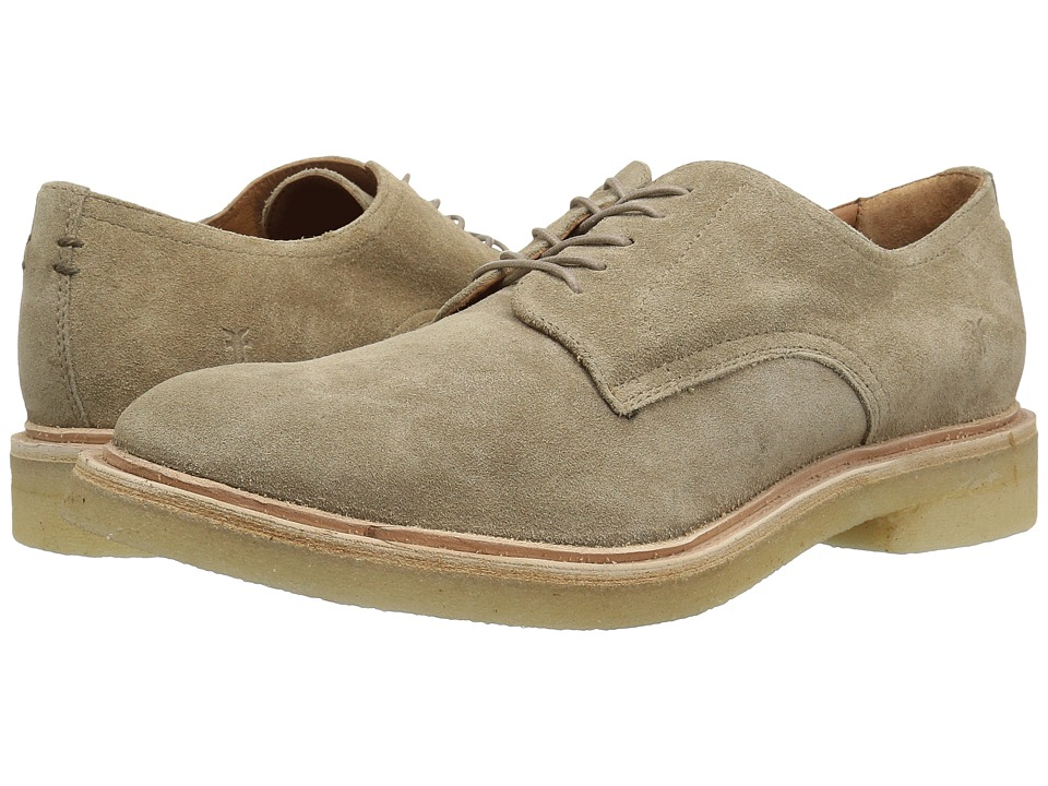 Frye - Chris Crepe Oxford (Ash Washed Waxed Suede) Mens Lace Up Wing Tip Shoes