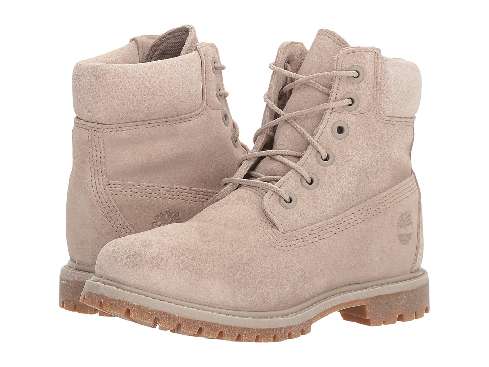 Timberland - 6 Premium Boot (Simply Taupe Suede) Womens Lace-up Boots
