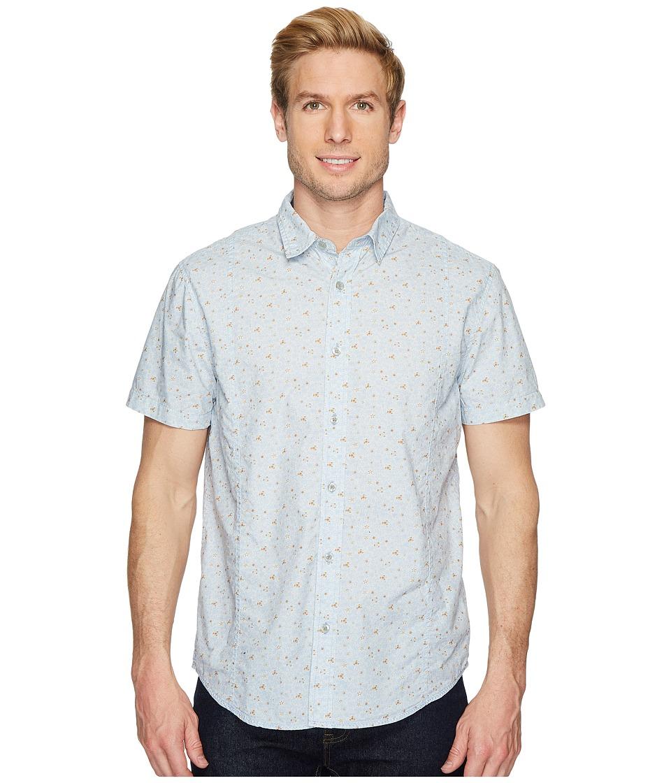 Prana - Lukas Shirt (Beaming Blue) Mens Long Sleeve Button Up