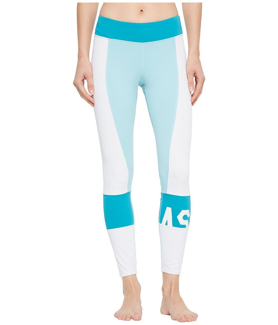 ASICS Solution Dye Color-Block 7/8 Tights (Porcelain Blue) Women