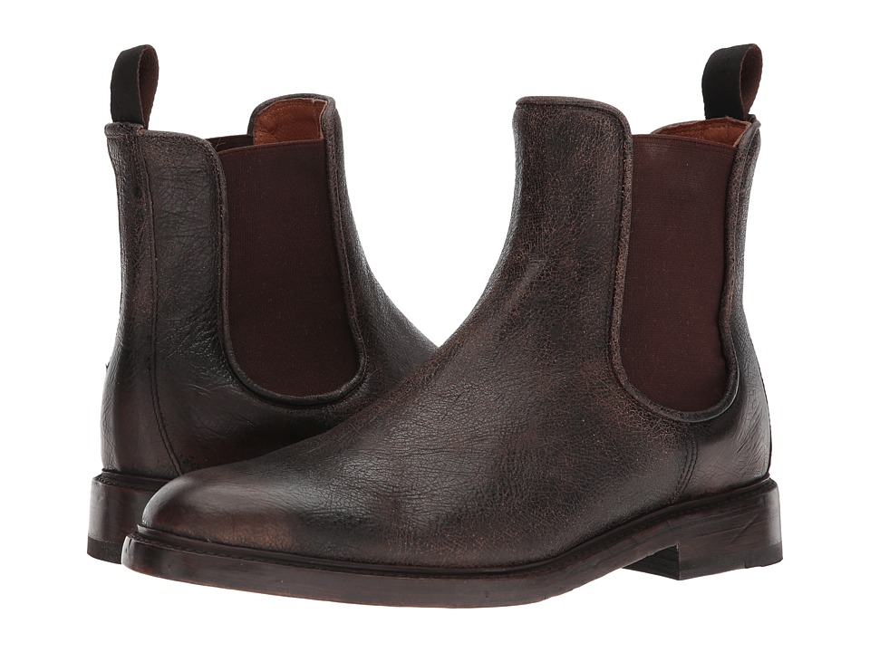 Frye - Jones Chelsea (Dark Brown Crackle Brush-off) Mens Boots