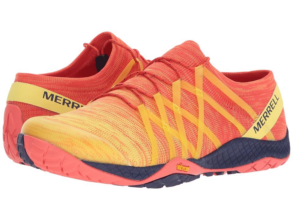 MerrellTrail Glove 4 Knit  (Hot Coral) Womens Shoes