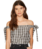 MINKPINK - Check Off the Shoulder Tie Top