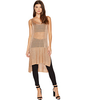 MINKPINK - Metallic Knit Tunic Tank Top