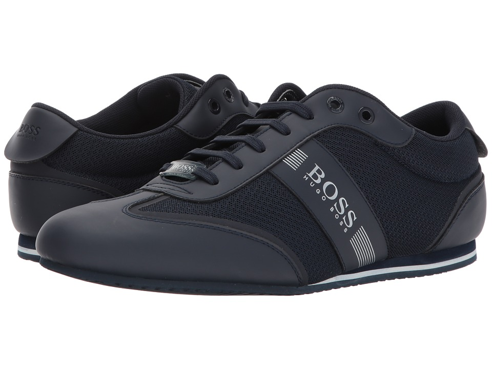 BOSS Hugo Boss Lighter Low Mesh Sneaker by BOSS Green (Dark Blue) Men