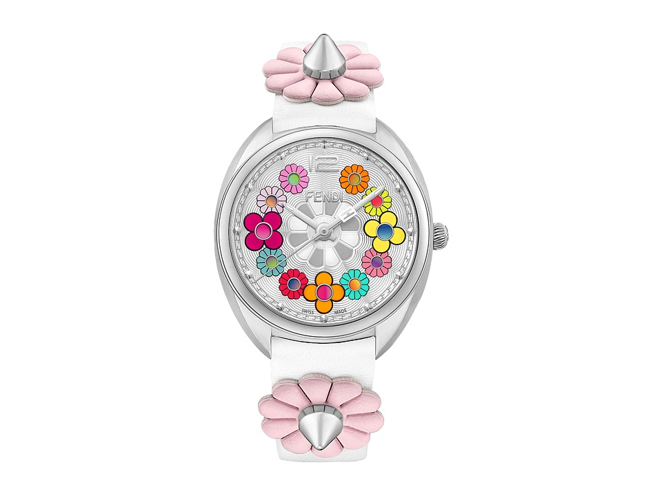 Fendi Timepieces - Momento Fendi Flowerland 34mm - F234034041 (Silver/White/Multicolored) Watches