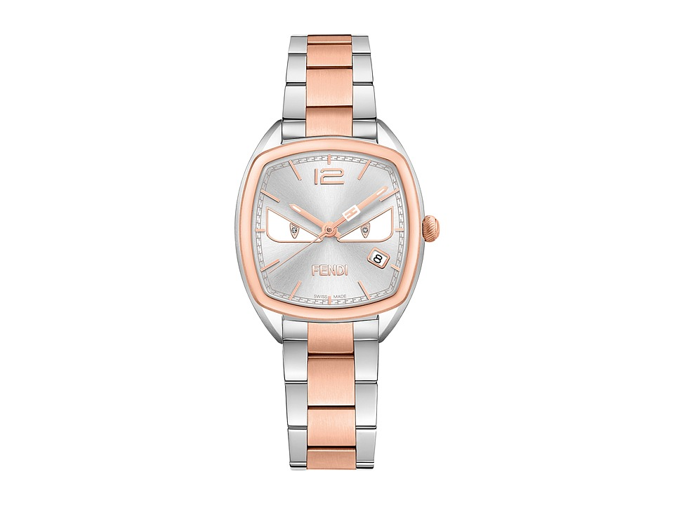 Fendi Timepieces - Momento Fendi Bugs Cushion 31.5X32mm - F223236400D1 (Silver/Rose Gold) Watches