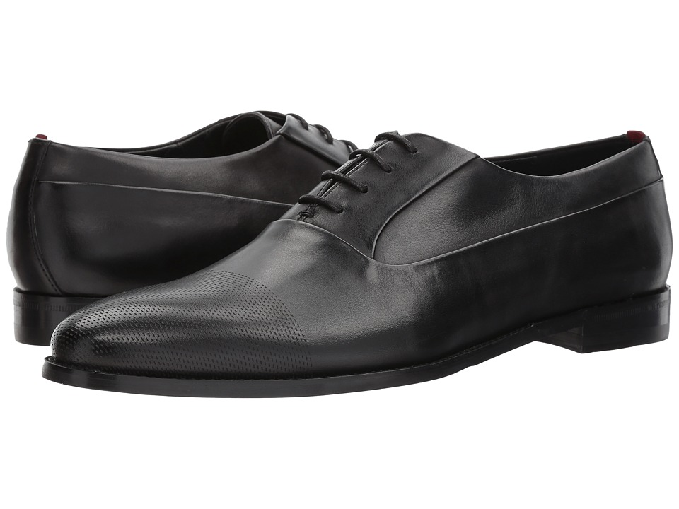 BOSS Hugo Boss - Pathos Laser Lace-Up Oxford by HUGO (Black) Mens Shoes