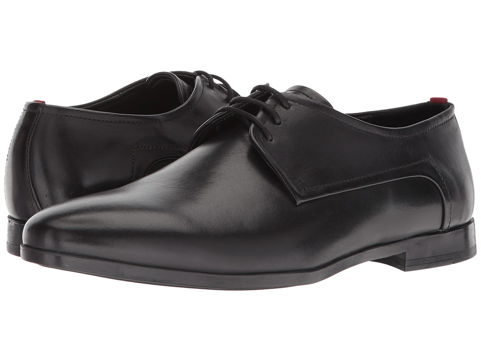 BOSS Hugo Boss - Pariss Leather Lace-Up Derby by HUGO (Black) Mens Shoes
