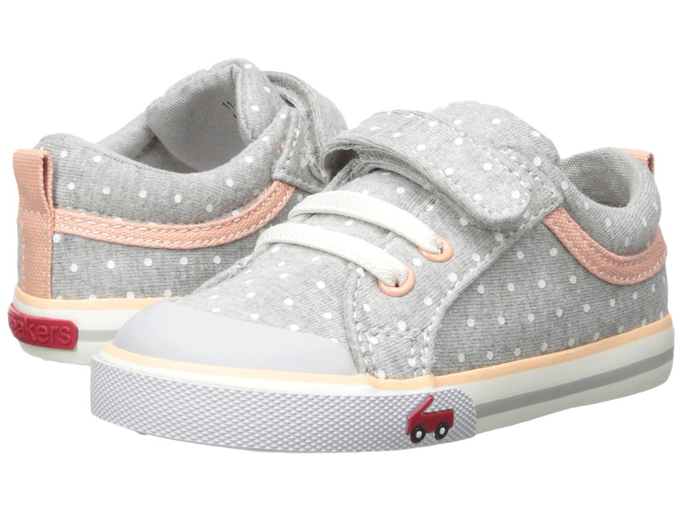 See Kai Run Kids Kristin (Toddler/Little Kid) (Gray Jersey Dots) Girls Shoes