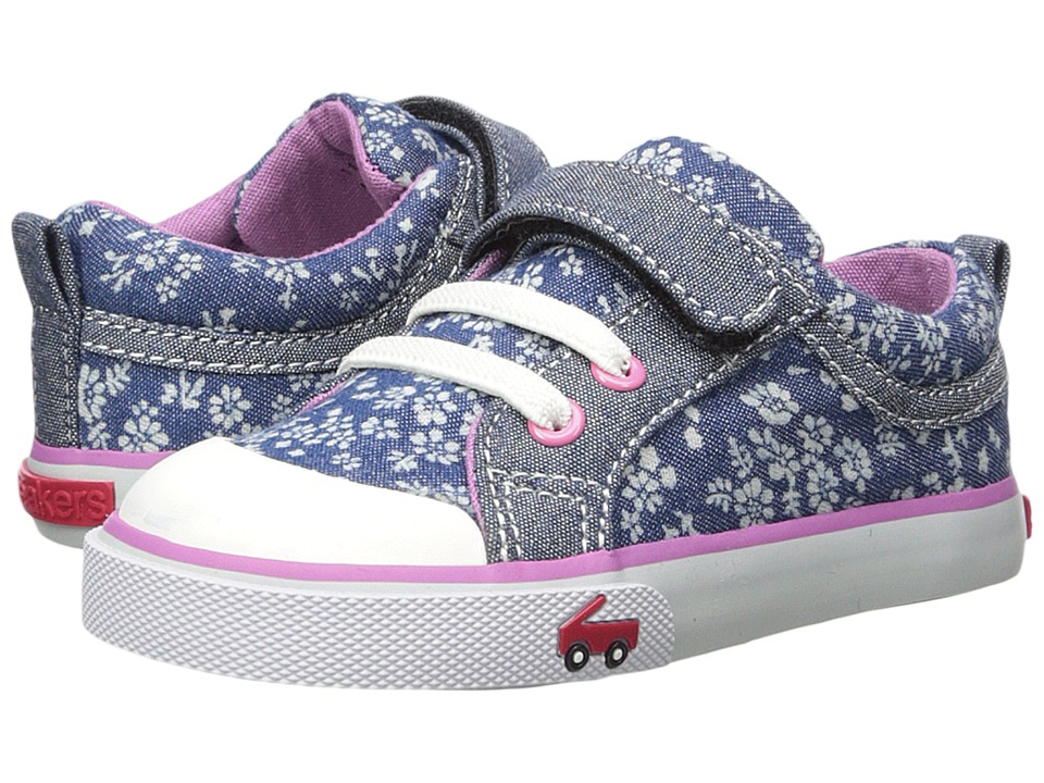 See Kai Run Kids Kristin (Toddler/Little Kid) (Blue Flowers) Girls Shoes