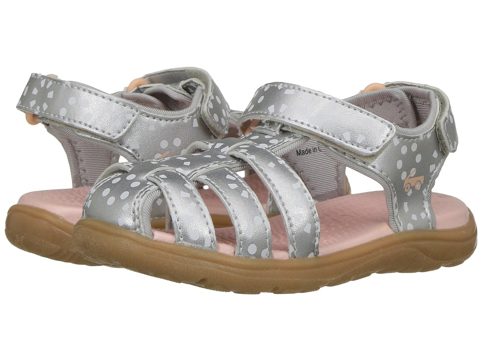 See Kai Run Kids Paley (Toddler/Little Kid) (Silver/White) Girl