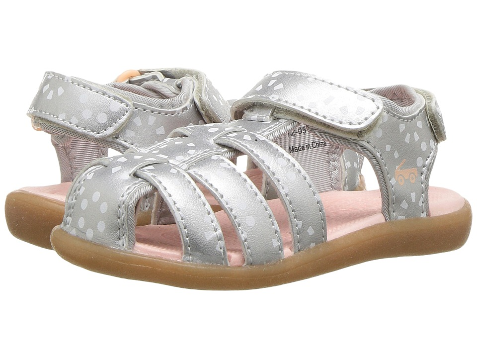 See Kai Run Kids Paley (Toddler) (Silver/White) Girl