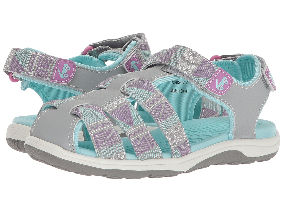 See Kai Run Kids Paley Webbing (Little Kid/Big Kid) (Gray) Girl