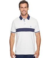 U.S. POLO ASSN. - Classic Fit Color Block Short Sleeve Jersey Polo Shirt